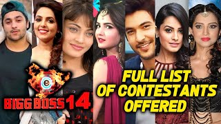 Bigg Boss 14 FULL LIST Of Approached Contestants | BB 14 Latest List Of Contestants