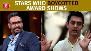 Ajay Devgn To Aamir Khan - Stars Who Boycotted Bollywood Award Shows