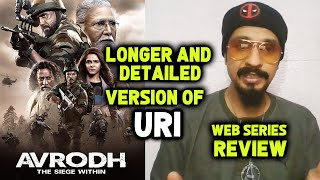 Avrodh - The Siege Within WEB SERIES Review | Amit Sadh, Darshan Kumaar, Madhurima Tuli