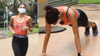 Aahana Kumra Spotted While Jogging In Lokhandwala