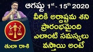 Tula Rasi August 1st - August 15th 2020 | Rasi Phalalu Telugu | Mantha Suryanarayana Sharma | Libra