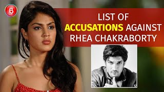 List Of Sushant Singh Rajput's Father's Allegations Against Rhea Chakraborty In His FIR
