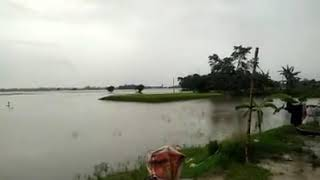 Mising villages in flood season. বাৰিষা কালত মিচিং গাঁৱৰ দৃশ্য
