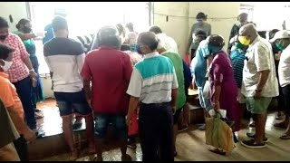 Watch: Social distancing norms flouted at Mapusa fish market