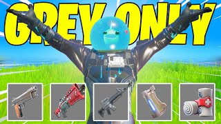 FORTNITE GREY WEAPONS ONLY + NO BUILDING CHALLENGE + GIFTING ZERO SKIN (Fortnite Battle Royale)