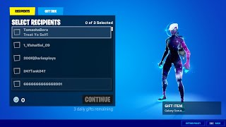 GIFTING GALAXY SCOUT SKIN TO SUBSCRIBERS & MEMBERS (Fortnite Battle Royale)