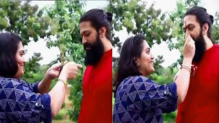 Yash Celebrating RakshaBandan with his sister Nandhini Video | Rocking Star Yash
