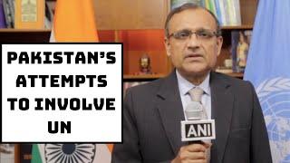 Pakistan's Attempts To Involve UN In J&K Issue Has Not Borne Fruit: India's Representative To UN