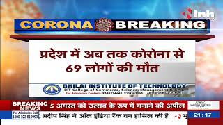 Corona Update in Chhattisgarh || प्रदेश में कोरोना का ग्राफ, मिले 106 नए Corona positive मरीज