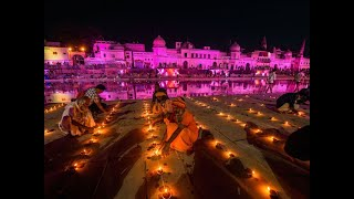 Watch: People light lamps on banks of Saryu river in Ayodhya as part of 'deepotsav'