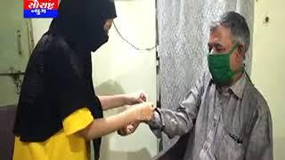 કેશોદ-મુસ્લિમ મહિલા દ્વારા હિન્દૂ ભાઈને રાખડી બંધાય