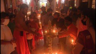 #WATCH | Panjim MLA lights lamp to celebrates Ram temple bhoomi pujan