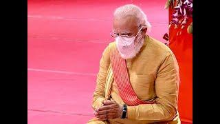 Ram Mandir Bhoomi Pujan: PM Modi lays foundation brick at Ram Janmabhoomi site in Ayodhya