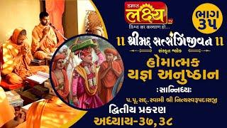 શ્રીમદ્દ સત્સંગિજીવન હોમાત્મક યજ્ઞ અનુષ્ઠાન ||Swami Nityaswarupdasji || Tirthdham Sardhar || Part-35