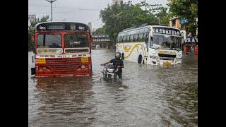 Watch: Heavy rain in Mumbai region; rail, road transport affected
