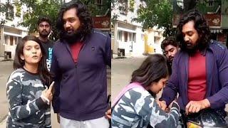 ನಡು ರಸ್ತೆಯಲ್ಲಿ ದ್ರುವ ಸರ್ಜಾ ವಿಡಿಯೋ ವೈರಲ್ | Dhruva Sarja fan video goes viral | Druva Sarja