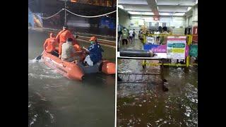 Monsoon in Mumbai creates havoc: NDRF rescues passengers; water enters JJ Hospital