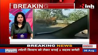 Madhya Pradesh News || Pandit Khushilal Ayurvedic College के पास दिखा टाइगर