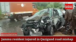 Jammu resident injured in Qazigund road mishap