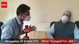 Senior Political Leader Javid Beig Speaking On Abrogation Of Article 370 What Changed For J&K?