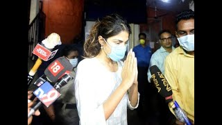 Rhea reaches ED office after her request to postpone recording of statement gets rejected