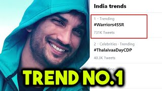 Sushant Singh Rajput BIGGEST Trend On Twitter, #Warriors4SSR No. 1 Trend By Sushant Fans