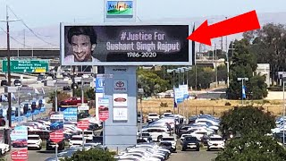 Breaking News: Justice For Sushant Ke California Me Lage Hoardings, Puri Duniye Se Nyay Ki Mang