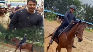 Exclusive - Darshan's son Horse Riding Video | Challenging Star Darshan Son Vineesh
