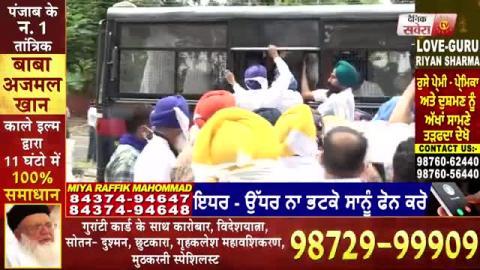 शराब मामले मे लगातार चौथे दिन Akali Dal का प्रदर्शन,Chandigarh Police ने बसों मे भरकर थाने भेजे नेता
