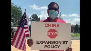 Watch: Indian-Americans protest against China outside Capitol Hill in Washington D.C.