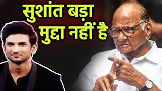 Breaking:  NCP Ke Sharad Pawar Ne Kaha Sushant Bada Mudda Nahi Hai