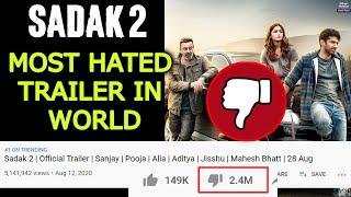 Sadak 2 Ban Gaya HISTORY Ka MOST Hated Trailer | 24 Lakh Dislikes | Alia, Sanjay Dutt, Aditya