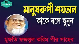 মানুষরুপী শয়তান কাকে বলে শুনুন । বাংলা ওয়াজ । Mufti Foyzul Karim | New Islamic Lecture @Islamic BD