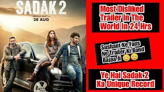 Sadak 2 Trailer Becomes Most Disliked Trailer In World In 24 Hours,Public Ne Is Film Ki Band Baja Di