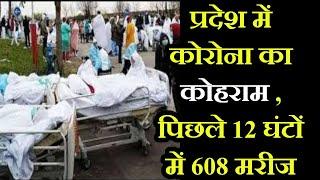 प्रदेश में कोरोना कोहराम , 12 घंटों में 608 मरीज , कोटा, सीकर, बीकानेर और अलवर में ज्यादा संक्रमित
