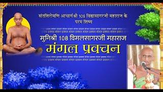 Muni Shri 108 Vimal Sagar Ji Maharaj | मंगल प्रवचन | मुनिश्री 108 विमलसागरजी महाराज |Date:- 04/08/20