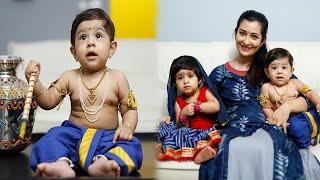 """Lil Krishn & lil Radha"" ❤️ | Ayra Yash celebrates Krishna Janamashtami | Yash Son | Radhika Pandit"