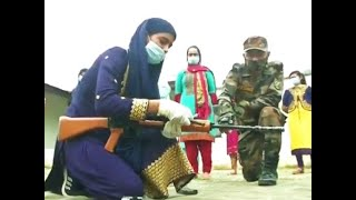 Watch: Indian Army organizes arms training camp for local girls to counter terror activities in J-K