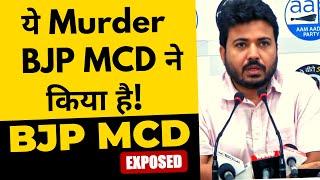 Delhi में BJP MCD की वजह हुई 2 मौतें | Kejriwal Team के Leader Durgesh Pathak ने BJP को Expose किया