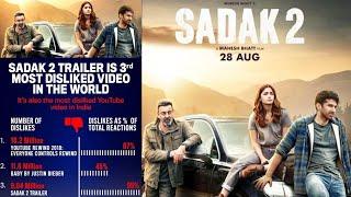 SADAK 2 World'd TOP 3 Most Disliked Video Me Shamil   Alia Bhatt, Aditya Roy Kapoor, Sanjay Dutt