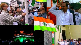 Independence Day Celebration In Hyderabad | Asaduddin Owaisi | CM KCR | And Others | @Sach News
