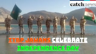 ITBP Jawans Celebrate Independence Day On Banks Of Pangong Tso At 14,000 Feet In Ladakh