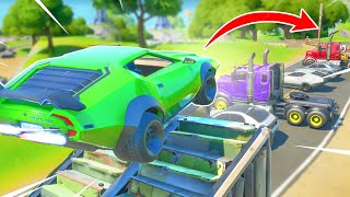 FORTNITE LAMBORGHINI EPIC CAR STUNT CHALLENGE FUNNY