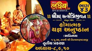 શ્રીમદ્દ સત્સંગિજીવન હોમાત્મક યજ્ઞ અનુષ્ઠાન ||Swami Nityaswarupdasji || Tirthdham Sardhar || Part-43