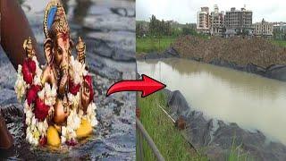 #WATCH | Mapusa Municipality Creates Artificial Pond For Bappa's Farewell