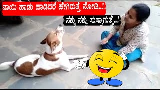 Funny Dog sings a song funny video of the year | you can't stop laughing after watching