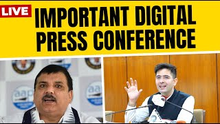 LIVE | Senior AAP Leader Sanjay Singh & Raghav Chadha addressing a Press Conference