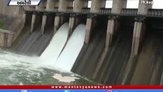 Amreli:જિલ્લાના ત્રણ ડેમ થયા ઓવરફ્લો  | Amreli | Dam