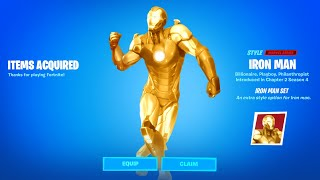 Fortnite Boss Iron Man Tony Stark Reward