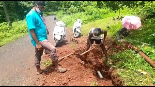 After In Goa News report, PWD takes up repair work at Sanguem pipeline; Locals doubt quality of work